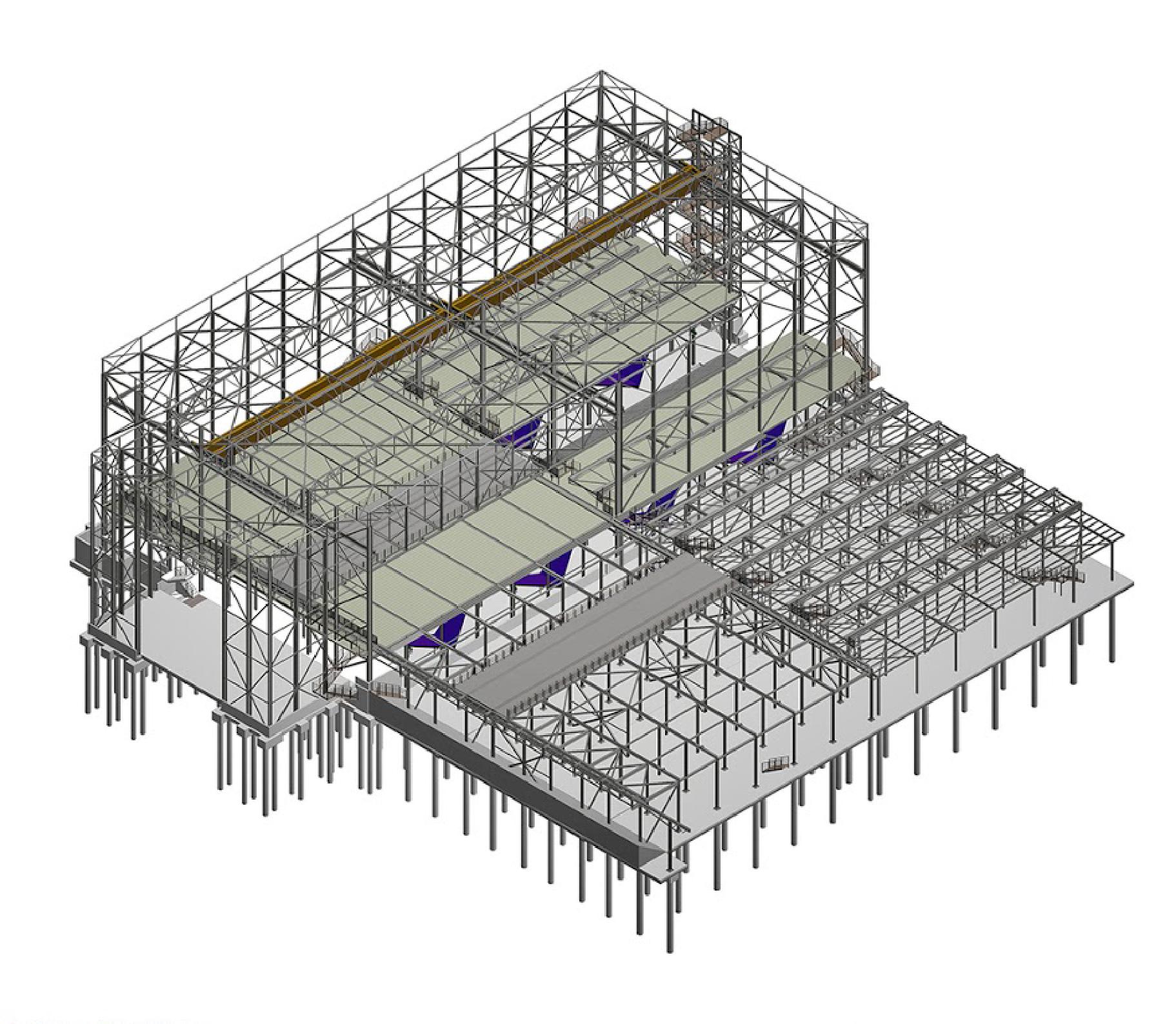 גוטמן מהנדסים | תכנון מבני פלדה: קונסטרוקצית פלדה, תכנון מבני פלדה
